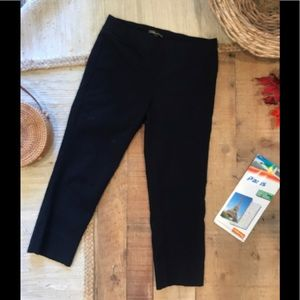 Dalia Navy Blue Capri Stretch Pants Size 6